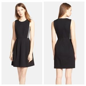 Madewell Abroad inset fit and flare black dress
